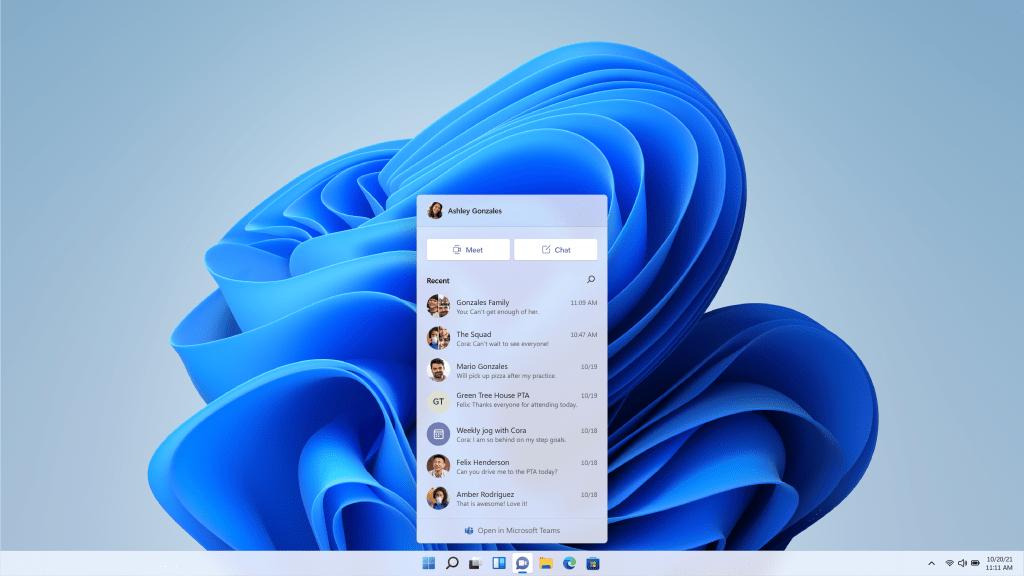 Windows 11 Teams Integratie